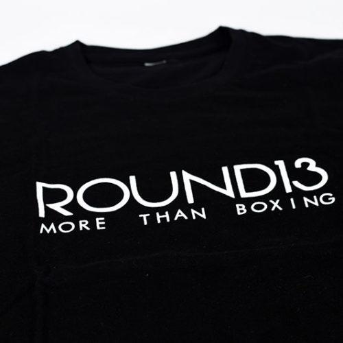 Camisetas solidarias de boxeo de color negra, material algodón