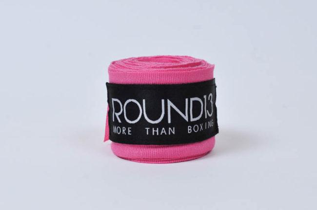 Venda de boxeo color rosa fosforescente Round 13