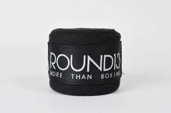 Venda de boxeo de Algodon color negro Round 13