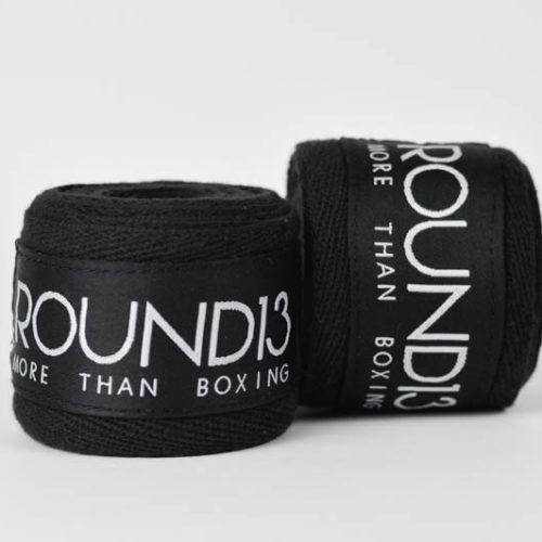Vendas de boxeo Rigidas de Algodon color negro Round 13