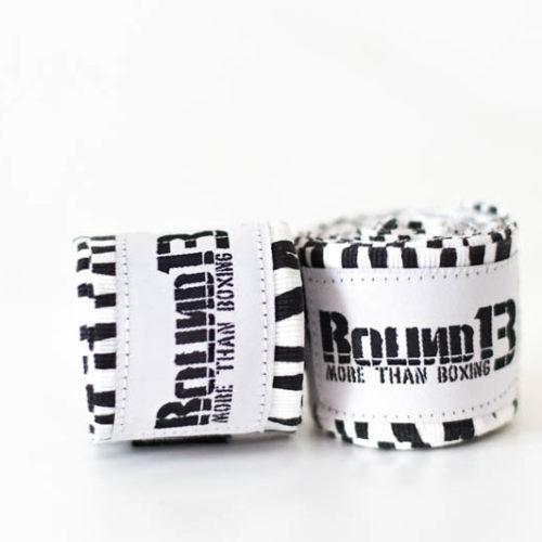 Vendas de boxeo Semi Elasticas Cebra Round 13