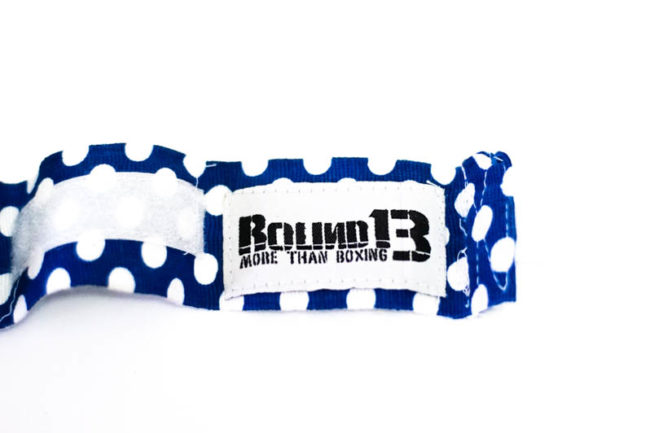 Vendas de boxeo Semi Elasticas Polka Dot Azul Round 13 logo