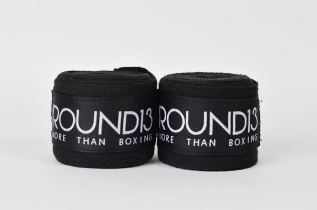 Vendas de boxeo de Algodon color negro Round 13 par