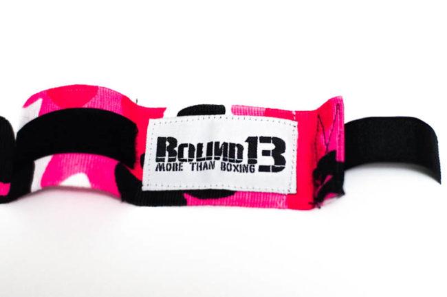 Vendas de boxeo semi elasticas Camuflaje Rosa Round 13 logo